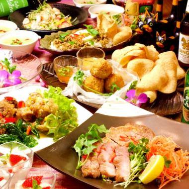 «周二 - 周四午餐时间»Line的亚洲套餐B计划★所有9项2.5 H无限畅饮♪4000日元♪