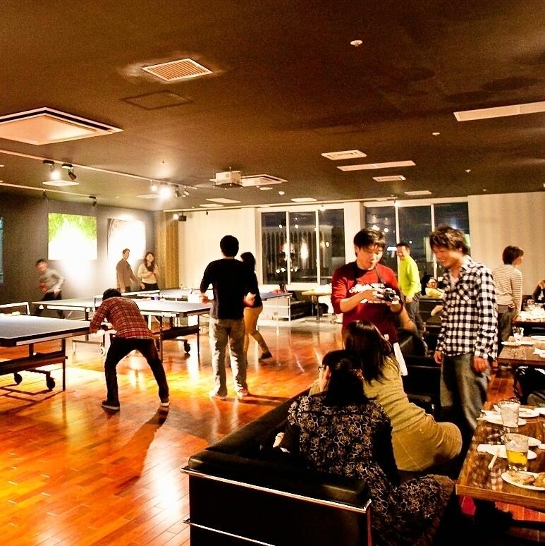 受欢迎的宴会和派对,享受厨师的烹饪,令人兴奋的乒乓球!