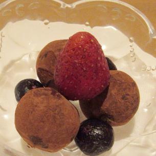 Raw chocolate truffle ice