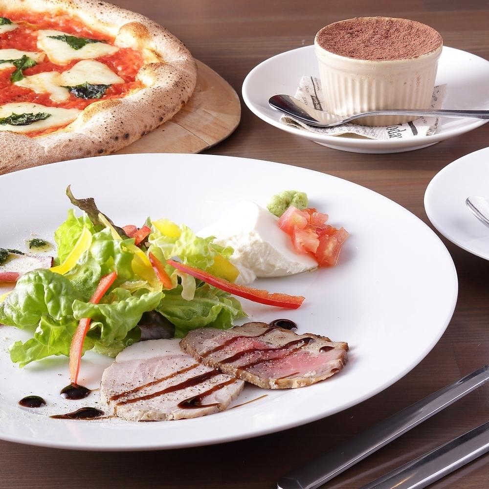 平日有限!今天的开胃菜和披萨或意大利面(没有大喷)比萨ko的优质C午餐♪