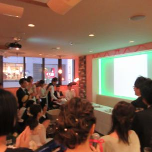 Ultra large 110 inch projector and audio equipment are also available for free! It is also popular for surprise production ♪