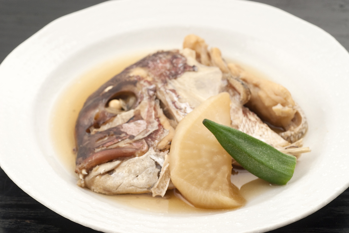 Boiled on the sea bream