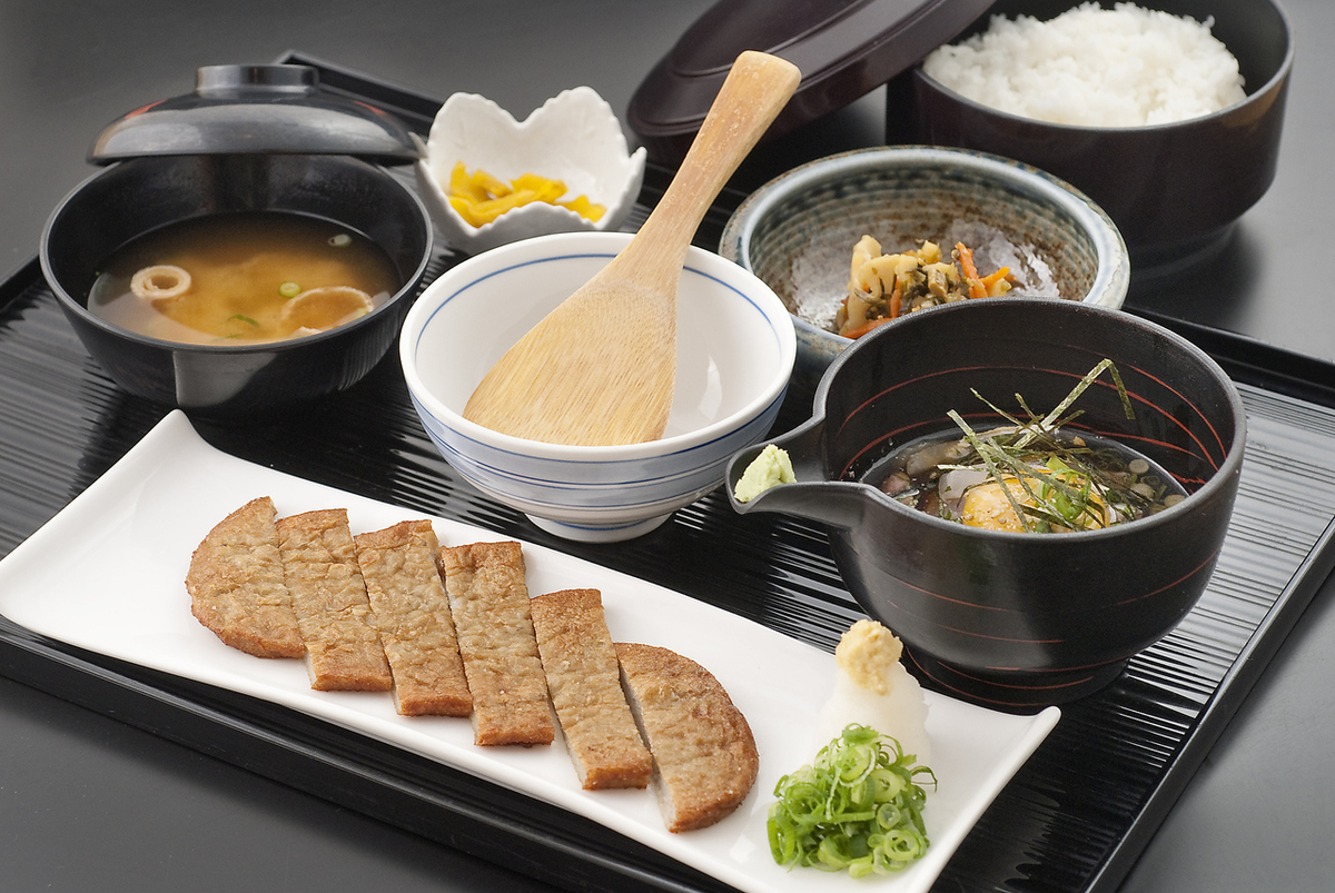 Uwajima bamboo meal set menu
