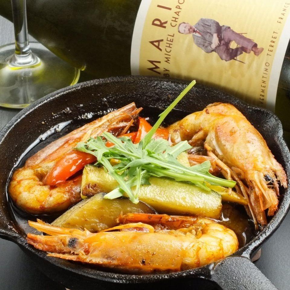 蝦和蔬菜ahijo
