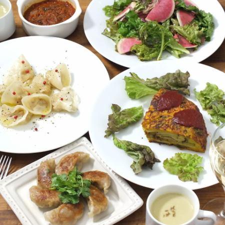 KiboKo受歡迎的菜單6菜+甜點