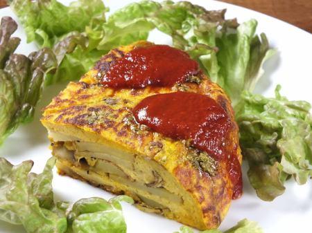 Spanish omelette style