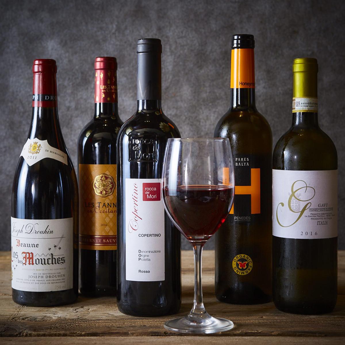 요리에 맞는 와인 다수 준비!