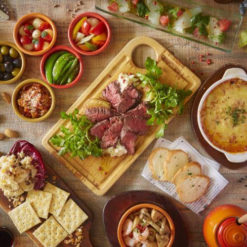 【高級套餐】豪華!奶酪火鍋配上大量美味的成熟肉類★全友暢飲3小時⇒5000日元