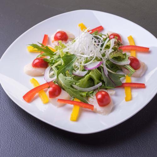 帆立のカルパッチョ風サラダ