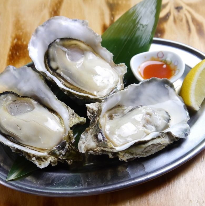 Steamed oysters of Akkeshi with white wine