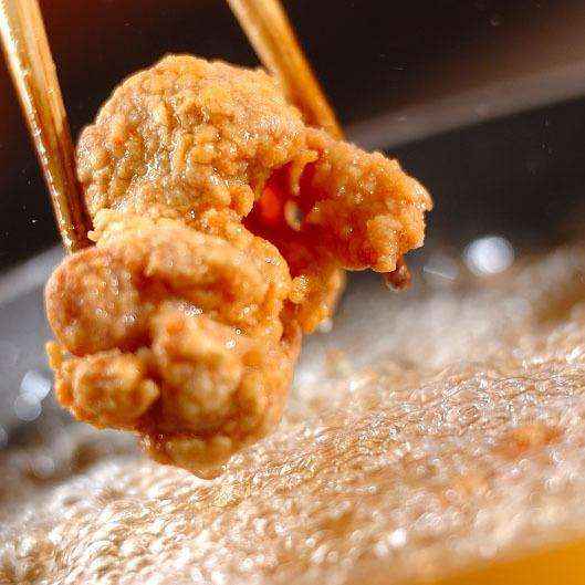 炸自制鸡肉