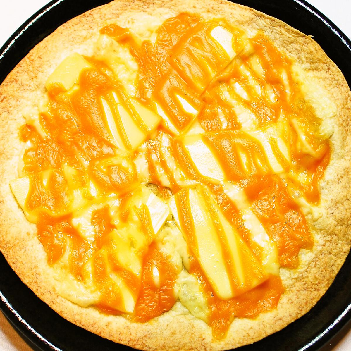 奶酪丰富的比萨饼