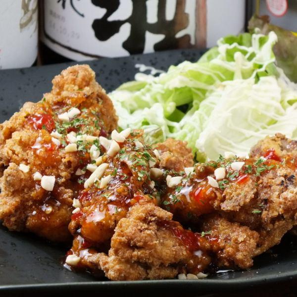 油炸豆沙(花生辣椒酱)