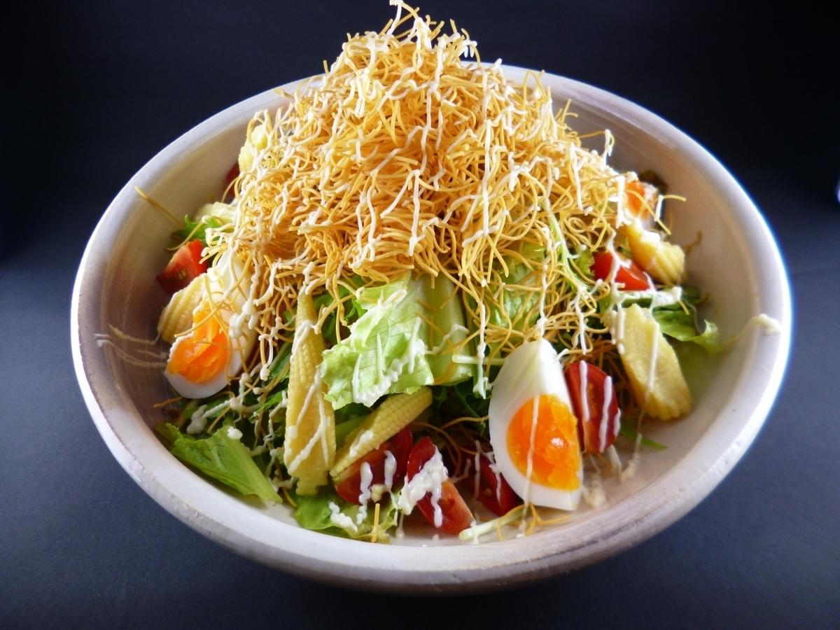 大量的蔬菜脆脆的沙拉