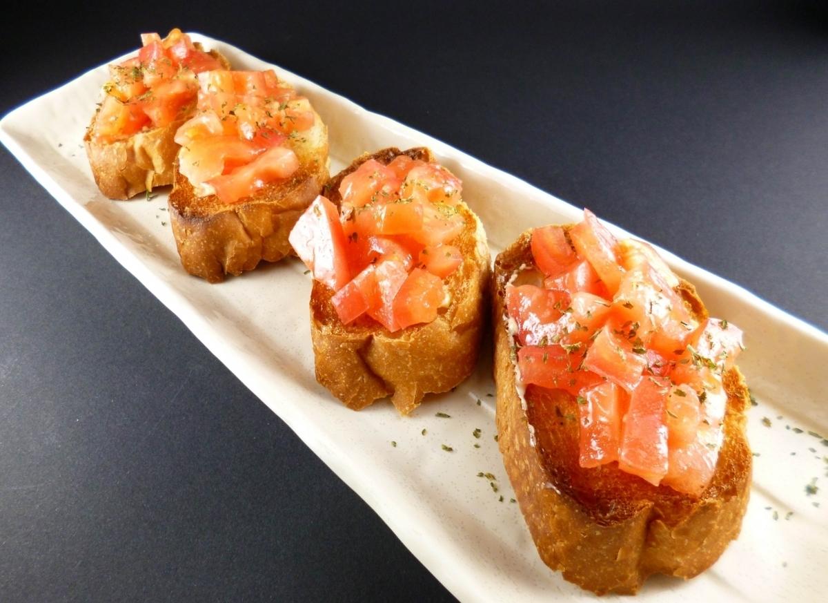 西红柿面包片