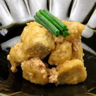 Stir-fry Hokuhoku taro miso
