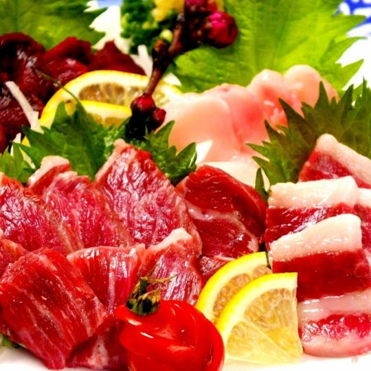 Of course, also !! fresh sashimi