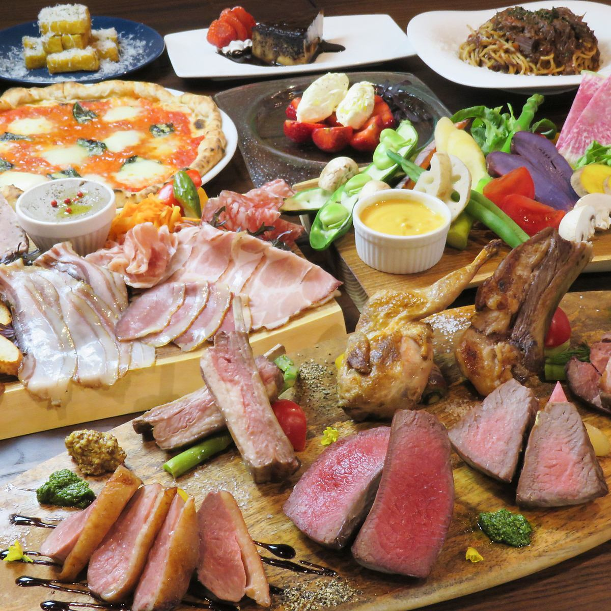 肉満載のコースは3,000円台から!