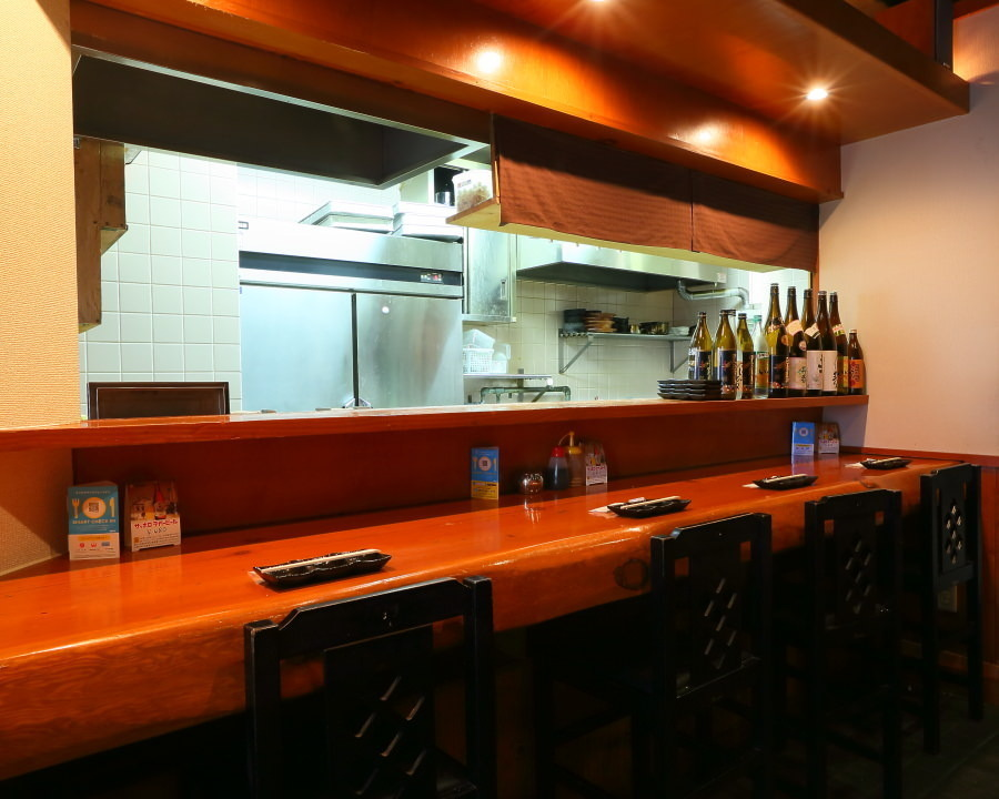 The kitchen is in front of you.Please feel free to order!