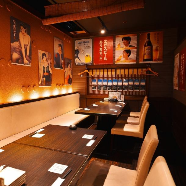 【Small scale party party】 A semi-private room that can be separated by a shade.It is also recommended for colleagues and friends, for dates and more.