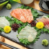 鮮度抜群の季節の厳選食材を使用