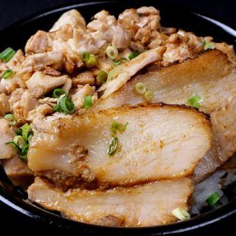 在米飯上的炒飯