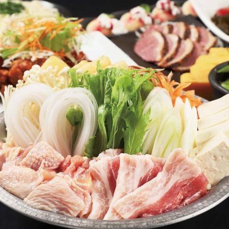 송년회 신년회 2 차에 ◎ 2 시간 음료 뷔페 포함 (6 종) 【연회】 코스 2980 엔