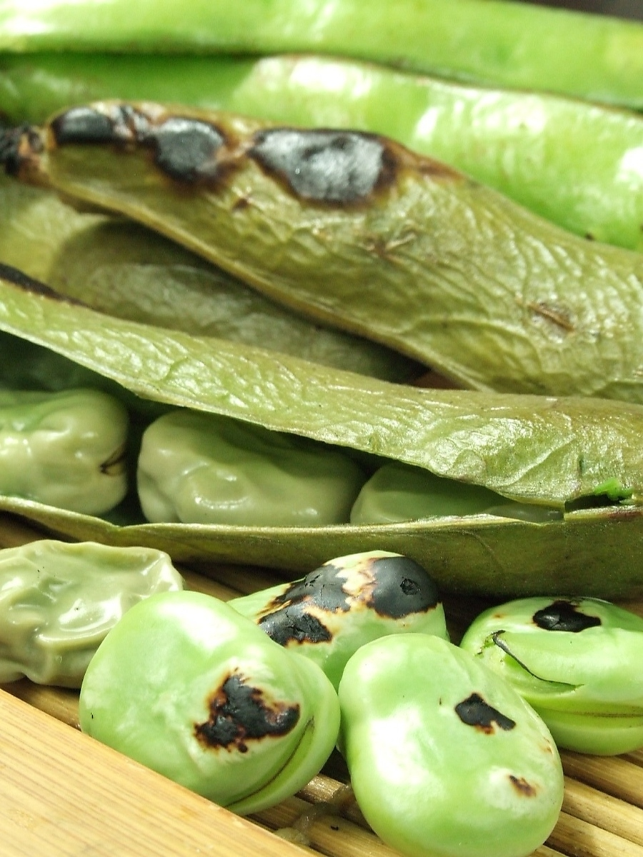 Grilled Broad bean