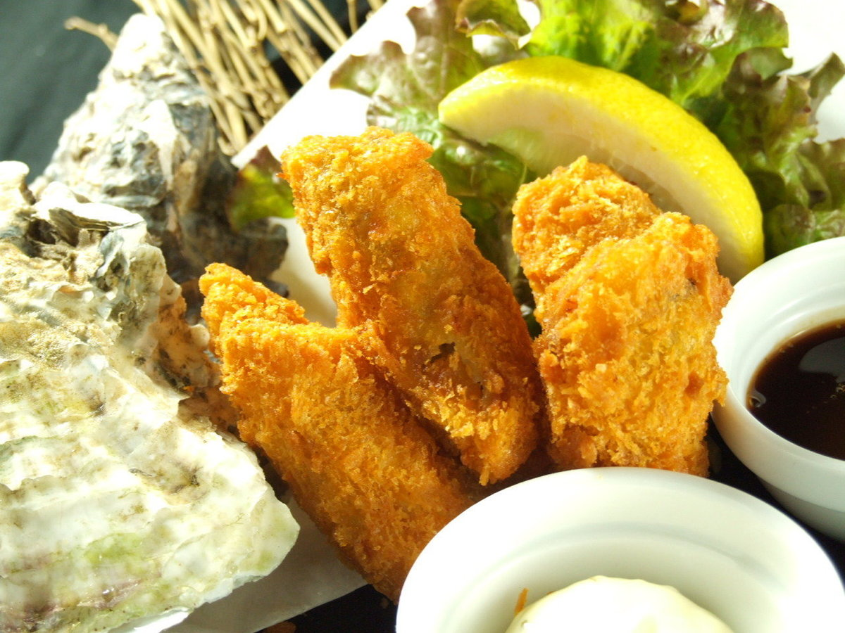 · Oyster fly · French fried potatoes