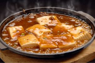 철판 마파 豆富 · 해물 파전 · 튀김 사정 豆富