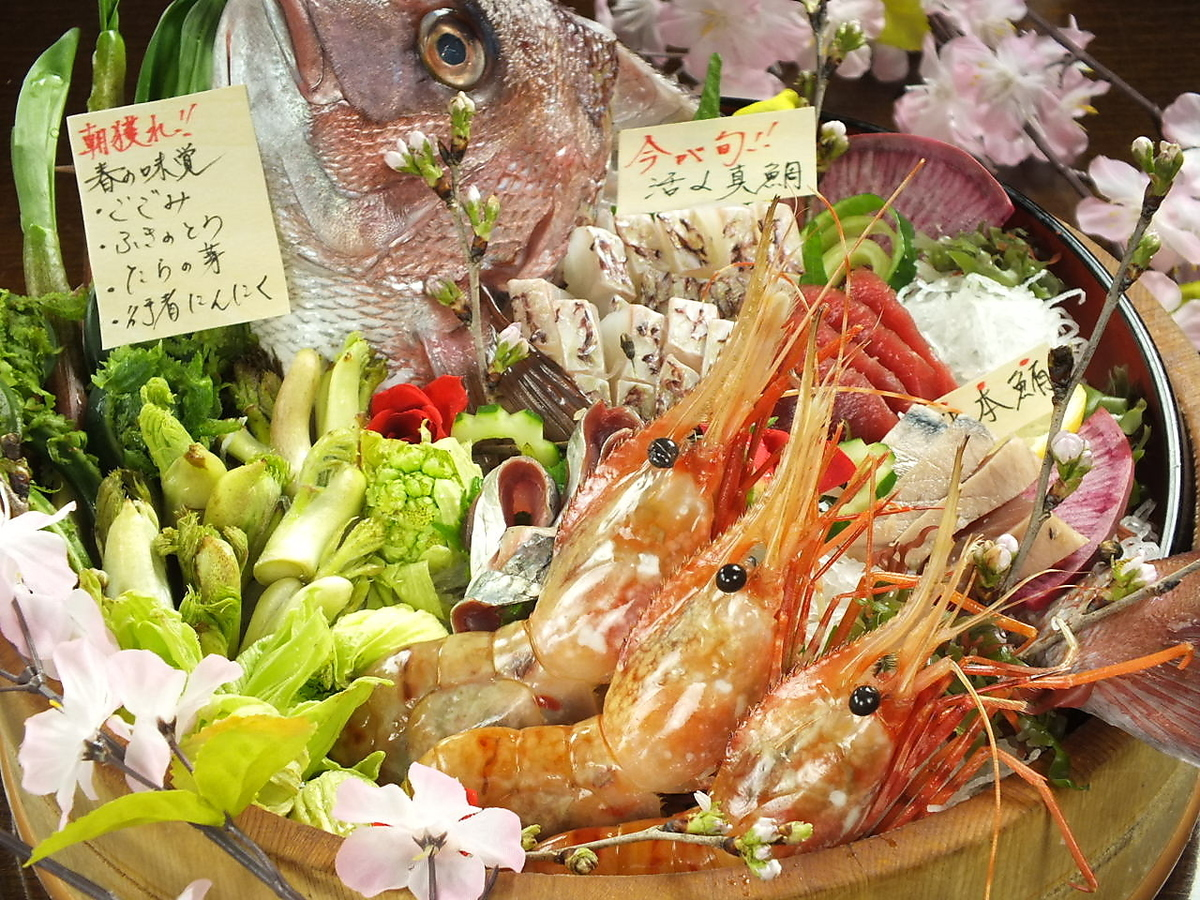Fresh fish boasting outstanding freshness! Popular with local customers and tourists