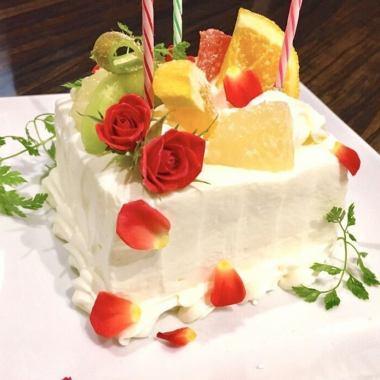 【記念日】乾杯酒+ボトルワイン+ホールケーキ!メインに牛ステーキ、バーニャカウダ等全6品5800円