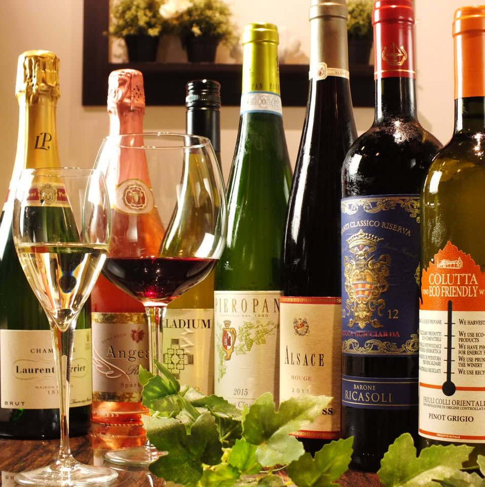 身体が歓ぶドリンクも充実!その他ワイン充実など各種ドリンクが充実!