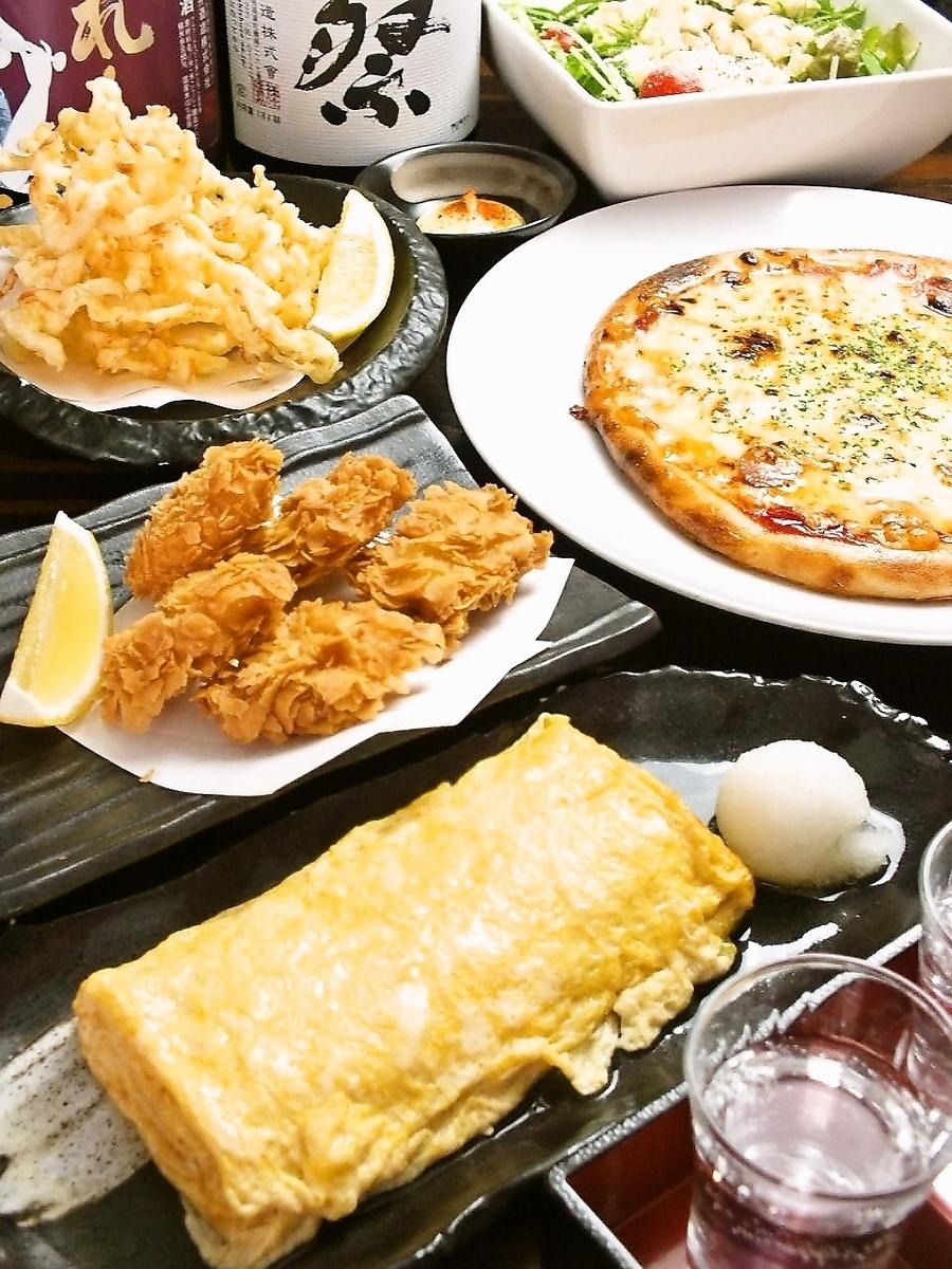 有日式菜單以及西式菜單以及日本料理!