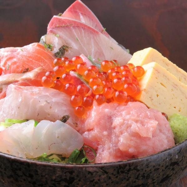碗飯淋上生魚片