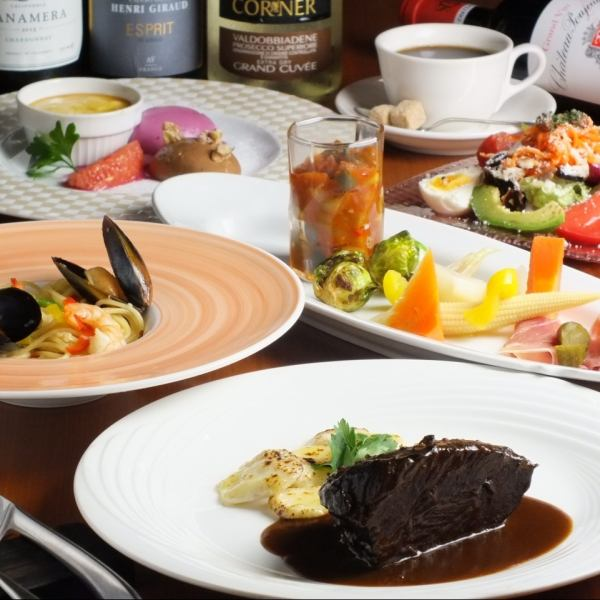 """Bistro rough popular course dish """"Premium special course"""" with free drink"""