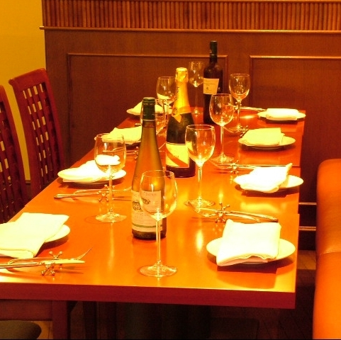 How about a course meal with friends while drinking delicious wine?
