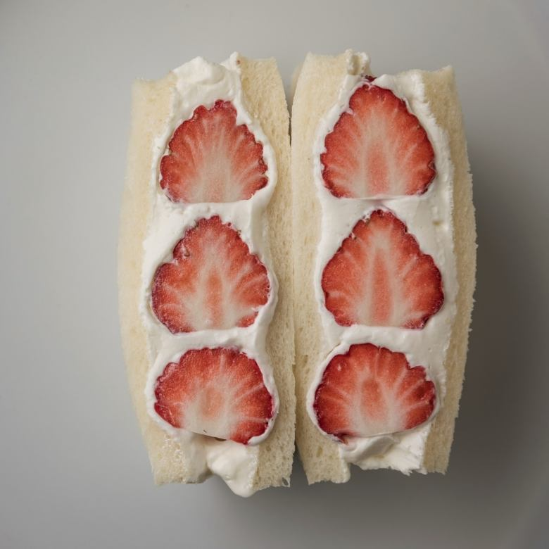 Fruit sandwich strawberry