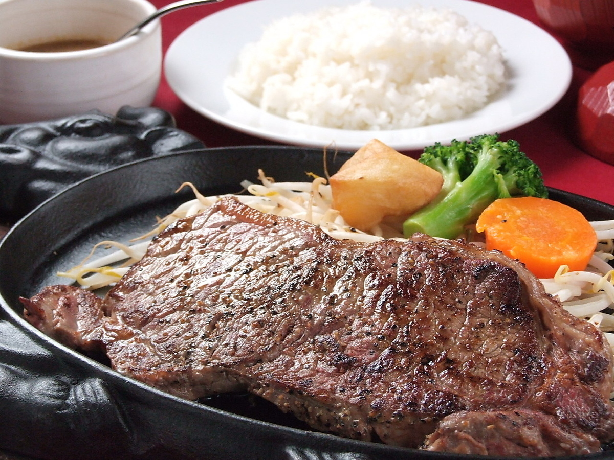 Sirloin steak 180 g (with rice · miso soup)