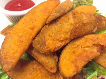 매운 감자 튀김