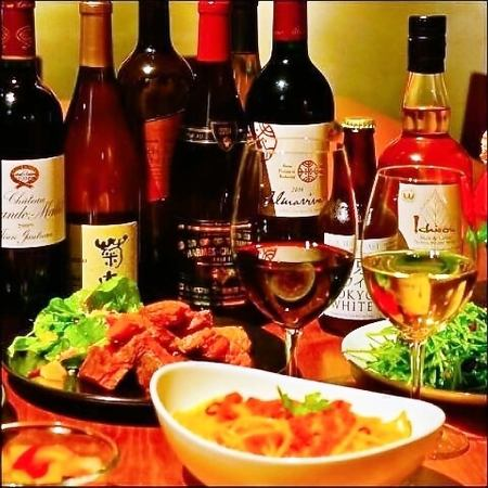 Carefully selected dishes with a variety of wines including selected wines