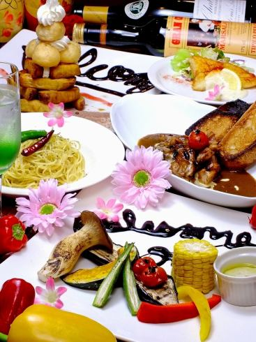 Recommended dining & drinking course for girls' party \ 2300 ~! Abundant drinks too!