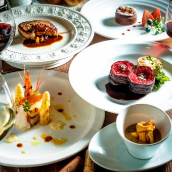 «Full pairing with wine! Chef's recommended full course 10000 yen (tax excluded)»