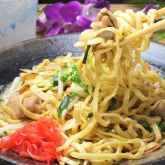 Fried noodles with Okinawa soba (Mars, sauce, ketchup, peperon)