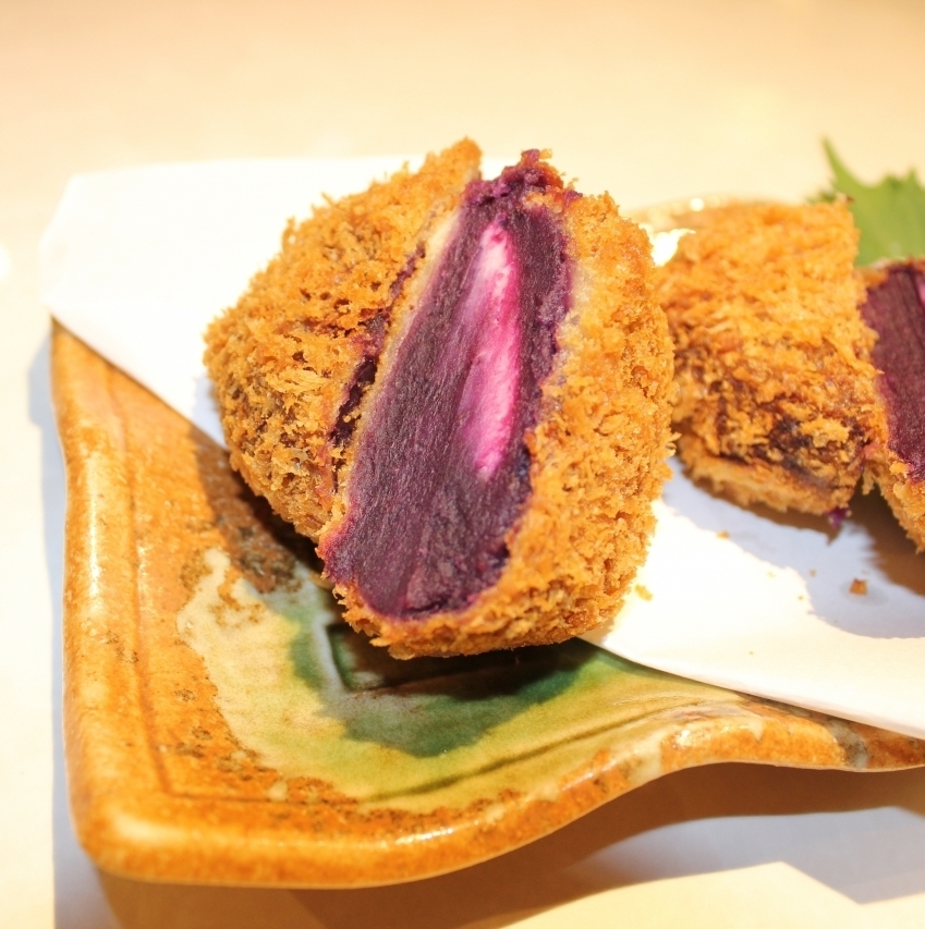 Sweet potato croquette (with cream cheese)