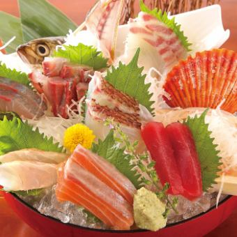 Monthly banquet 2H 【Drinking】 Grade UP Serving grilled sashimi & sashimi 6 points Serving 5500 yen (8 items in total)