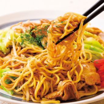 Plenty sauce fried noodles