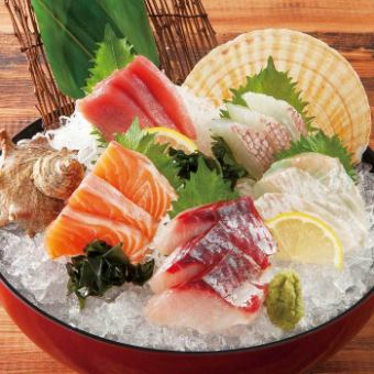 Five kinds of sashimi with fresh fish today