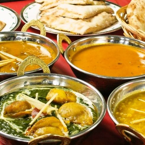 Authentic Indian cuisine made by authentic chef! Party course is all you can eat and drink ♪