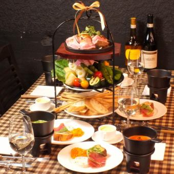 【Choose from 21 different cheese fondue sources】 Special cheese fondue course ⇒ 4980 yen